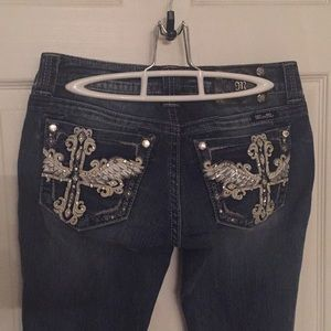 Gorgeous Miss me embellished boot cut jeans